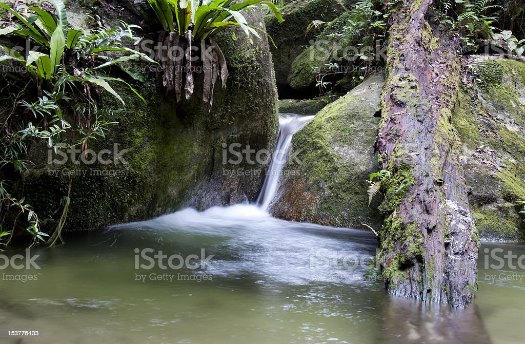 Wurrmbu Creek Waterfall Long Time Exposure stock photo