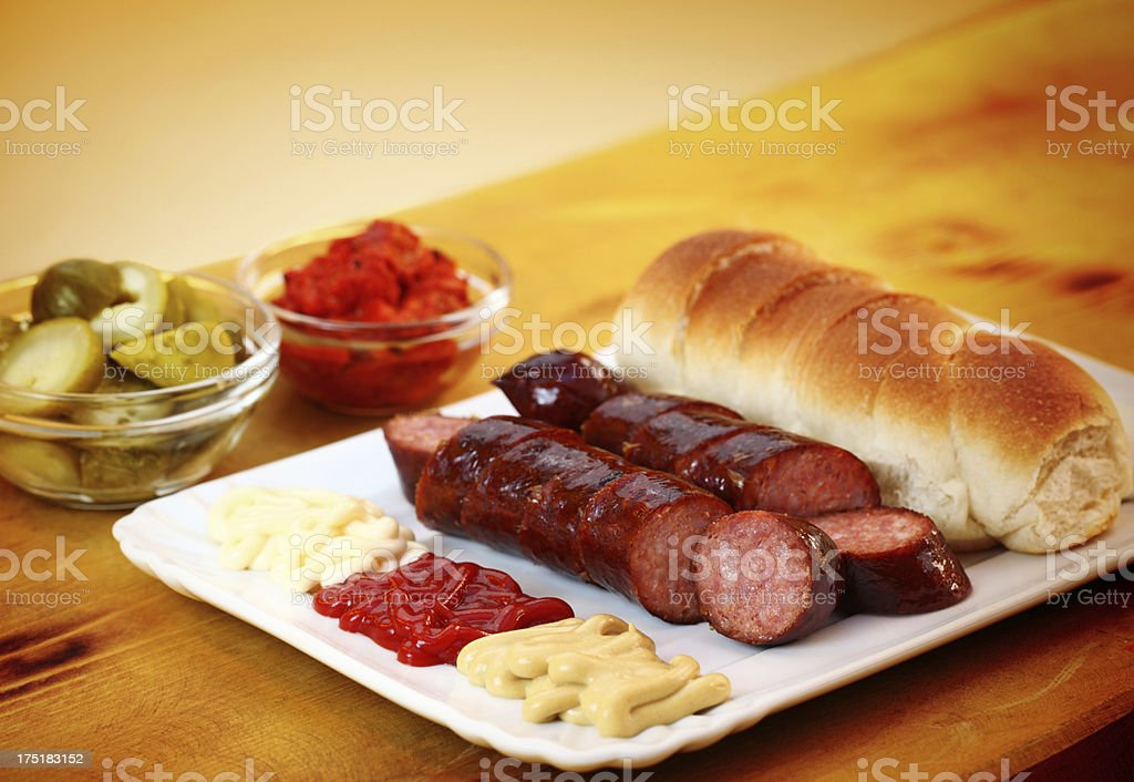 Wurst meal royalty-free stock photo