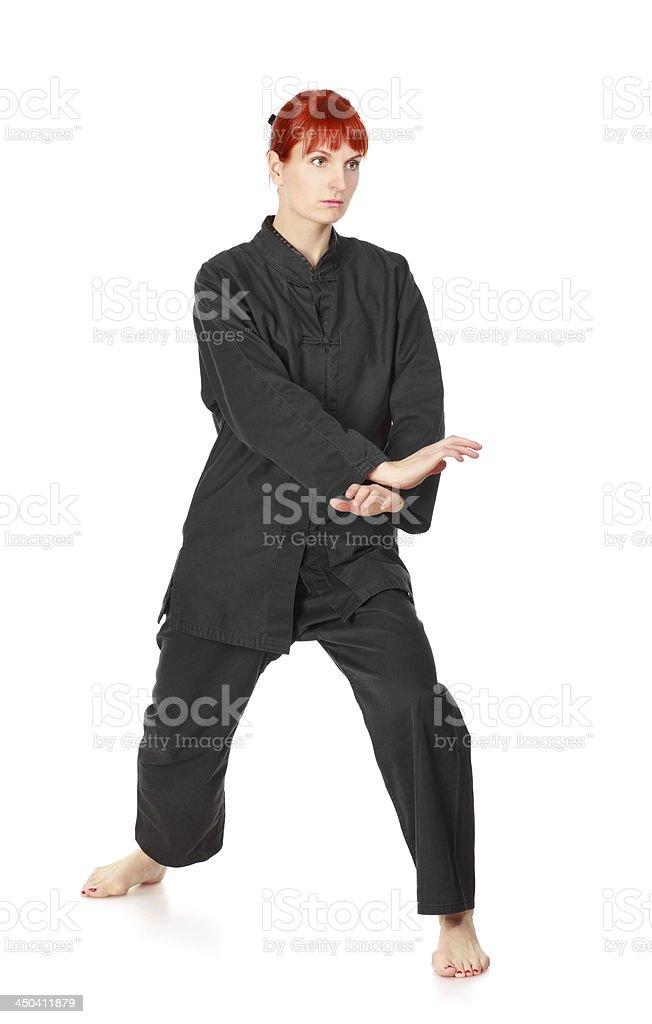 Wushu Woman royalty-free stock photo