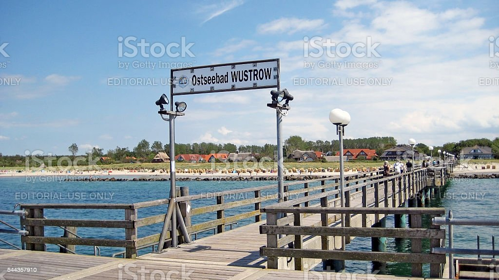 Wustrow pier stock photo