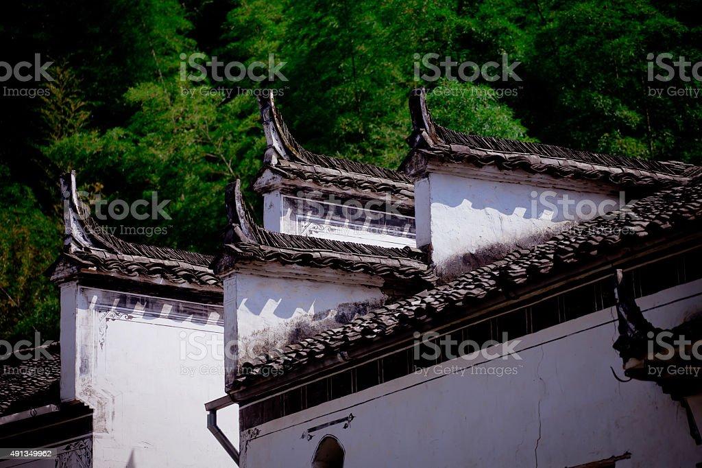 Wuyuan Huizhou architecture stock photo