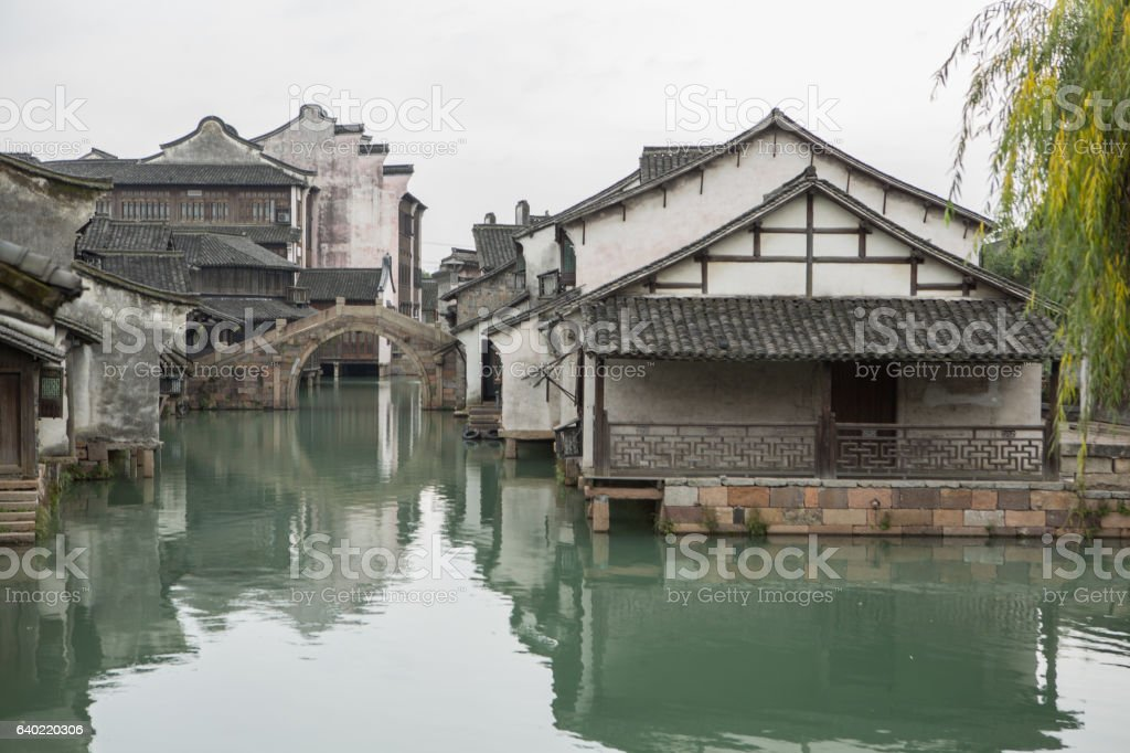 Wuzhen, ancient Chinese village, China stock photo