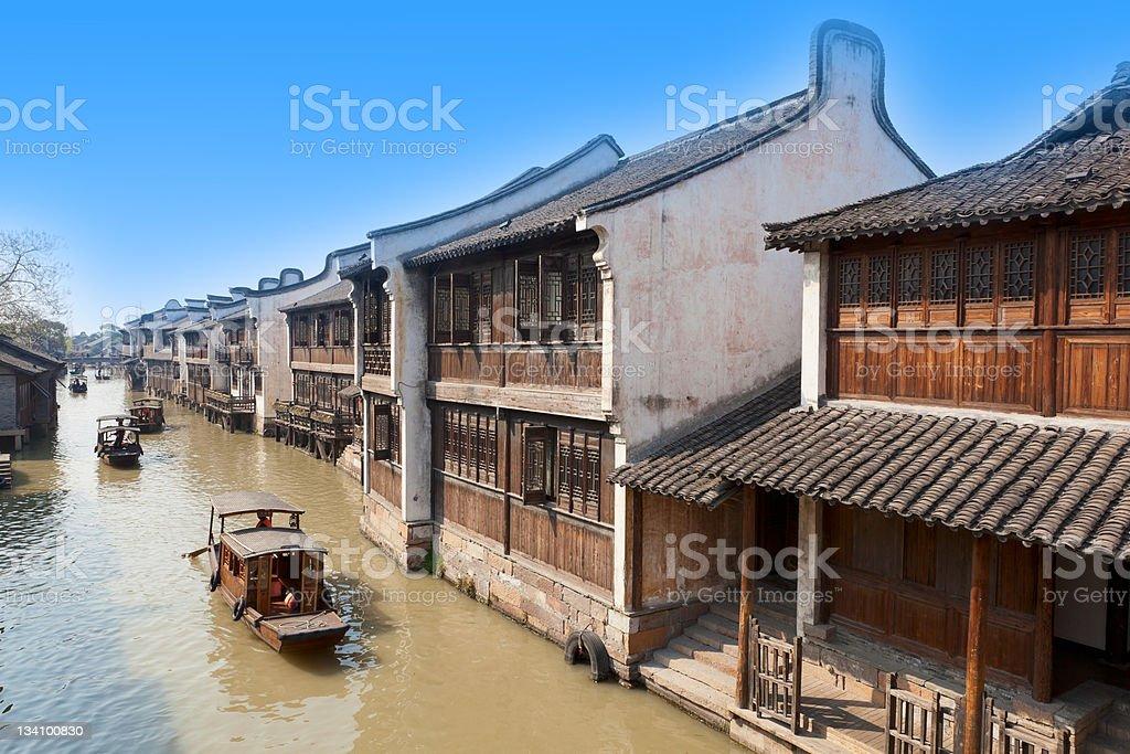Wuzhen, famous village of China stock photo