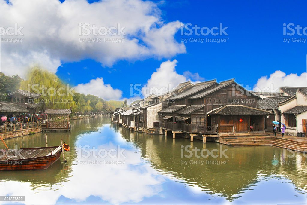 Wuzhen town stock photo
