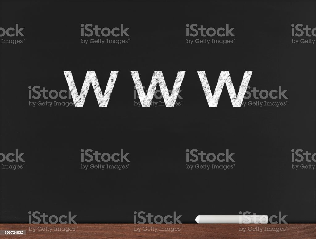 www - Business Chalkboard Background stock photo