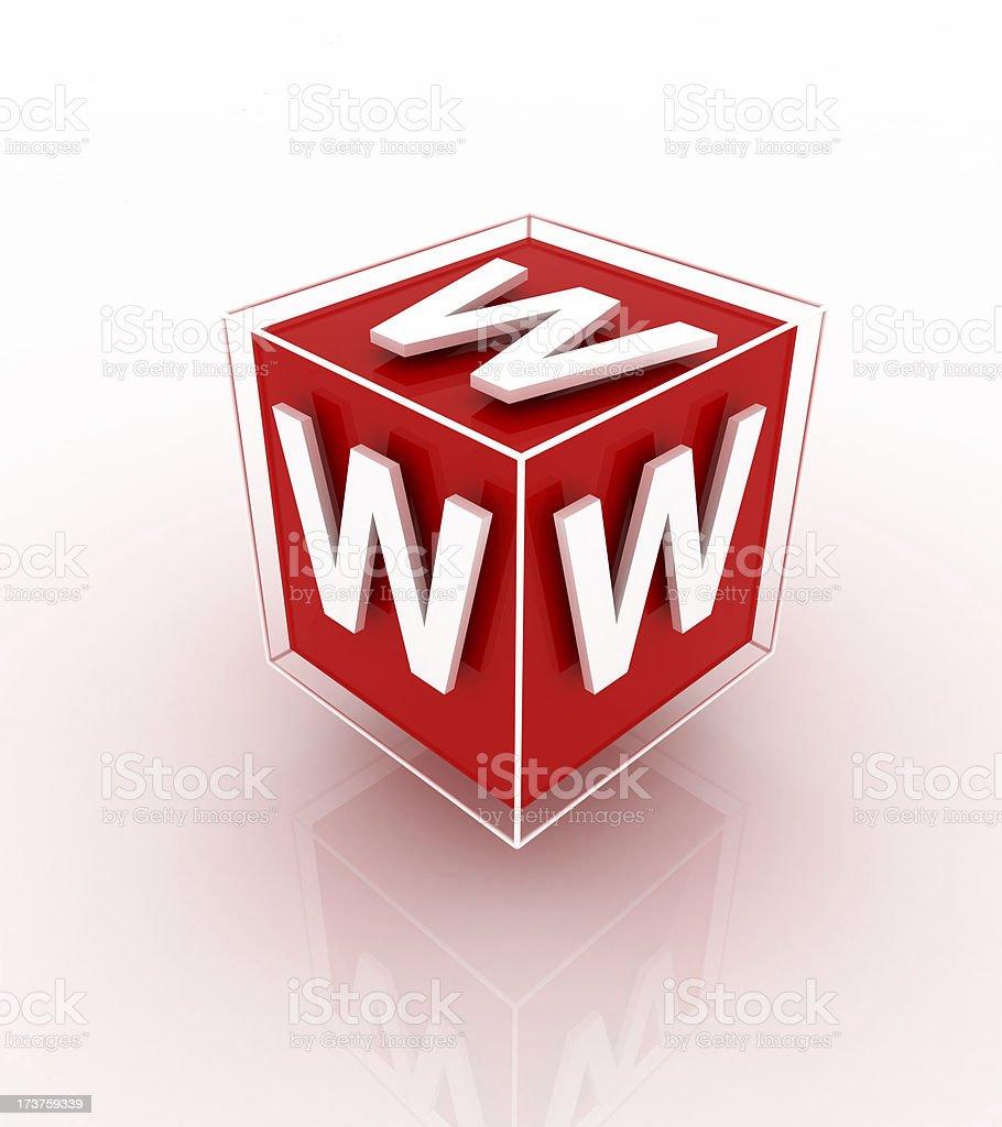 www cube royalty-free stock photo
