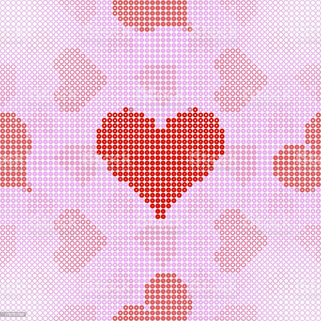 www dot love pattern (Seamless texture) royalty-free stock photo