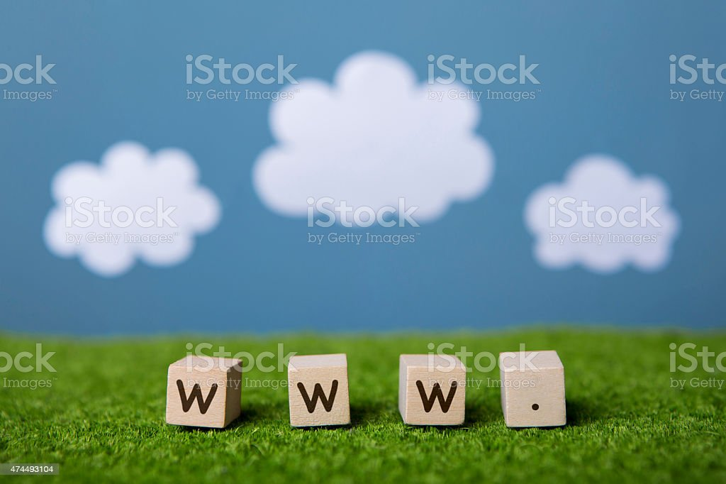 www text with colorful backround stock photo