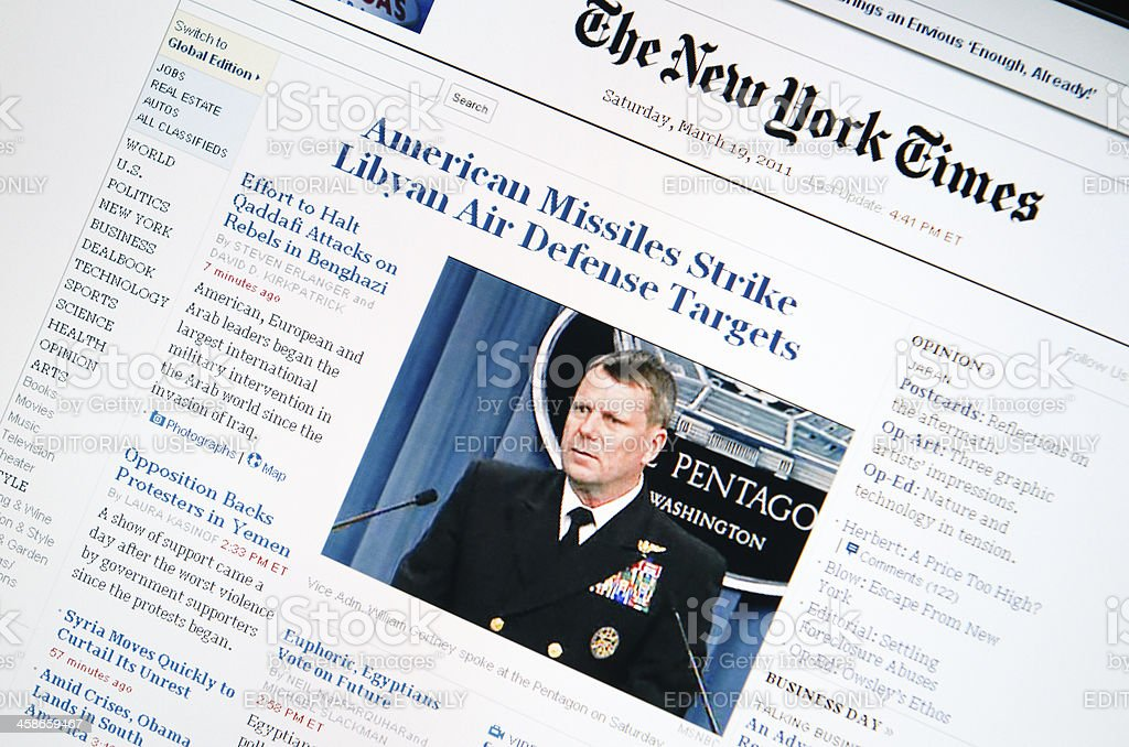 www.nytimes.com main page royalty-free stock photo