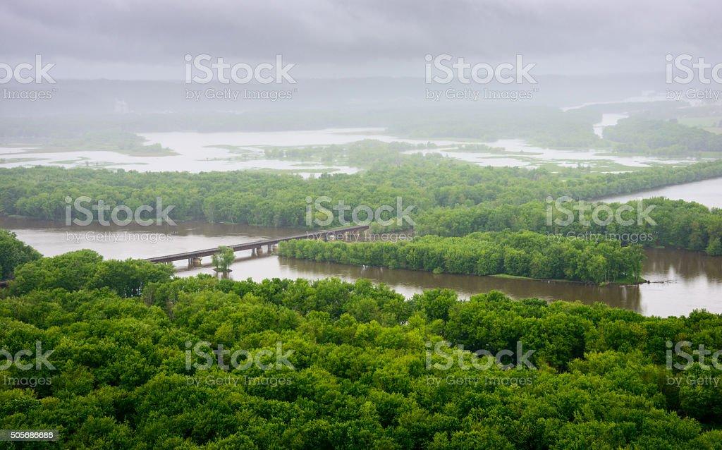 Wyalusing State Park stock photo
