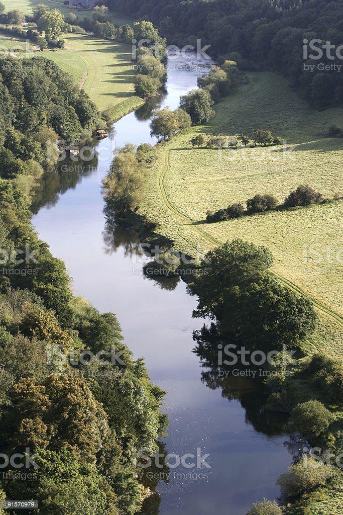 Wye Valley at Symonds Yat stock photo