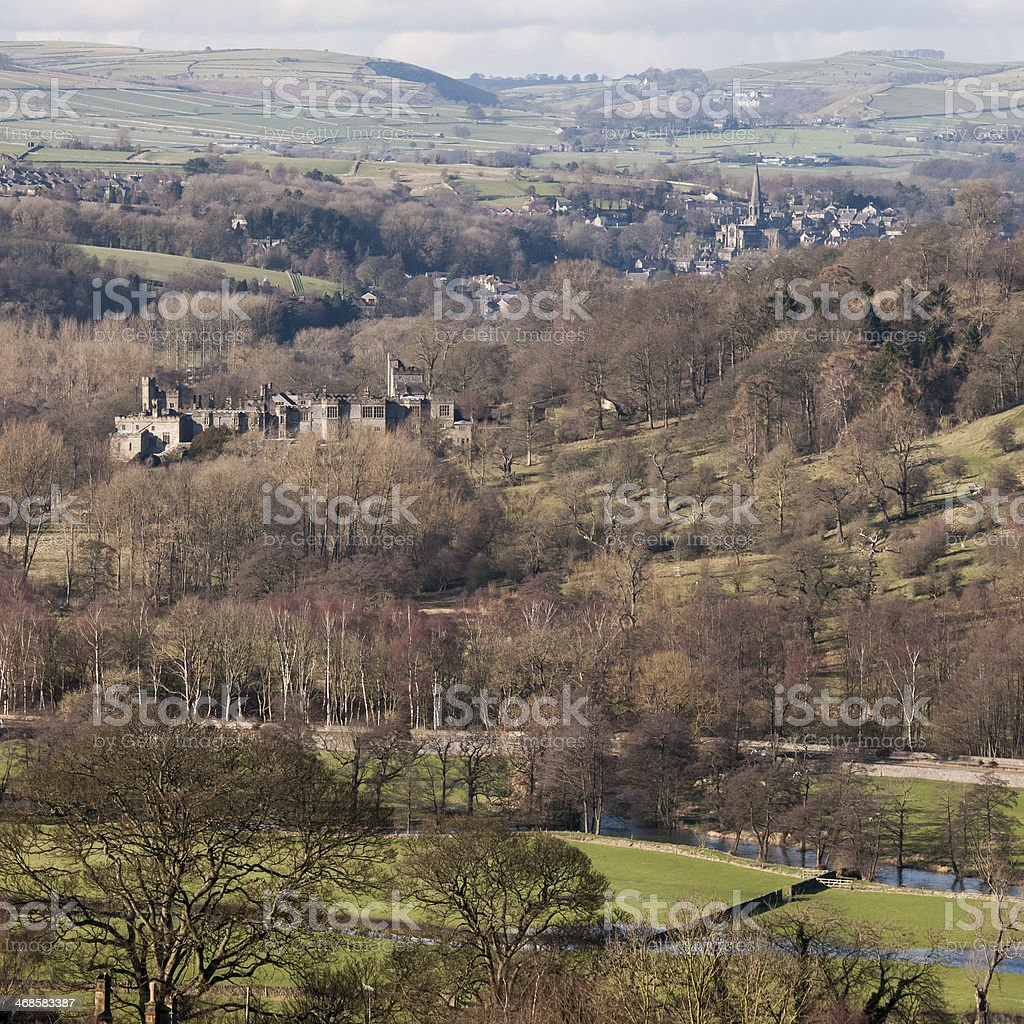 Wye Valley to Bakewell stock photo