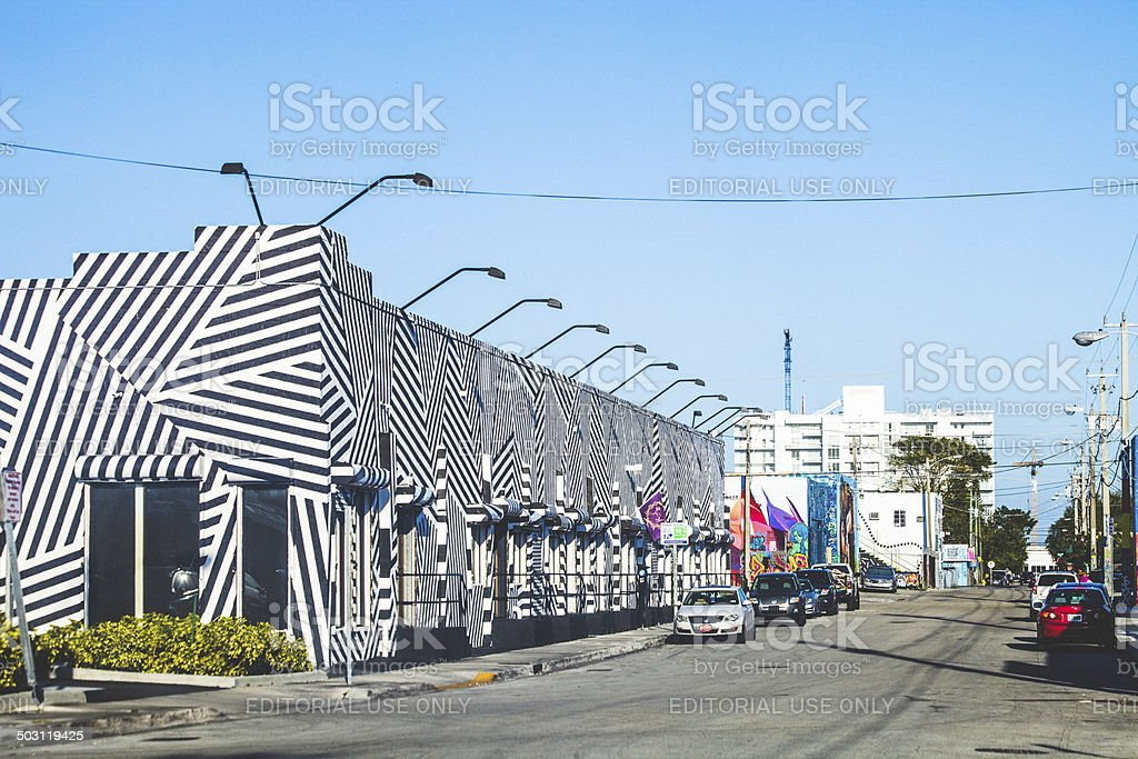 Wynwood art and fashion district. stock photo