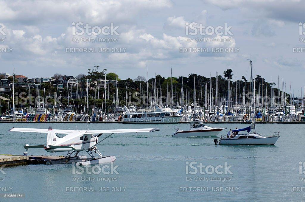 Wynyard Wharf Auckland New Zealand stock photo