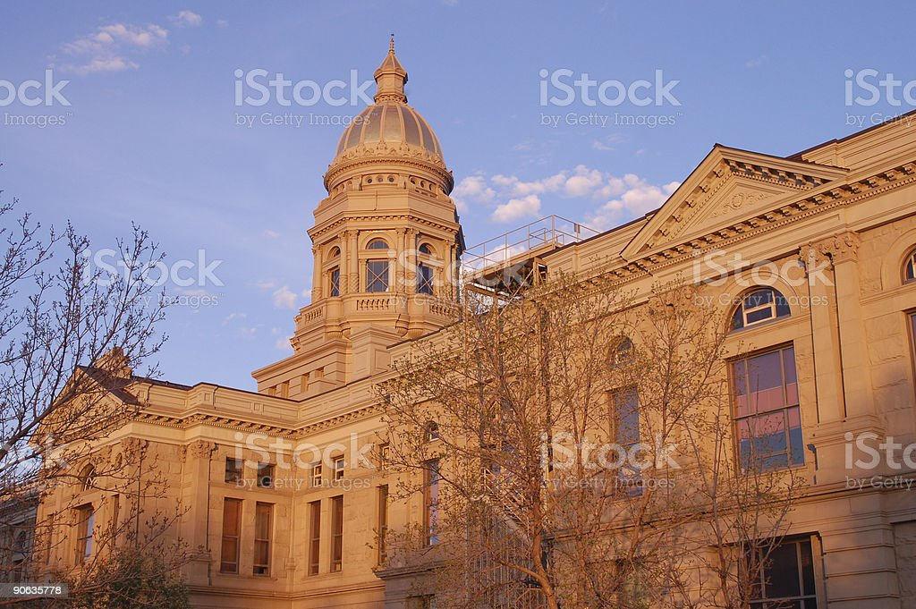 Wyoming Capitol Building in Cheyenne royalty-free stock photo