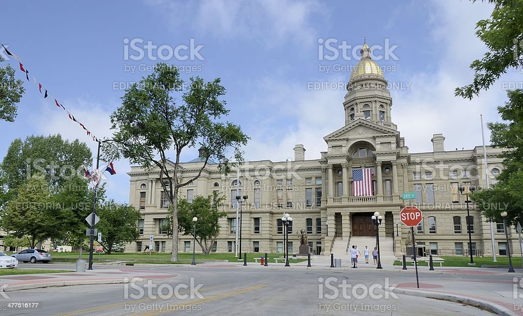 Wyoming Capitol Building royalty-free stock photo