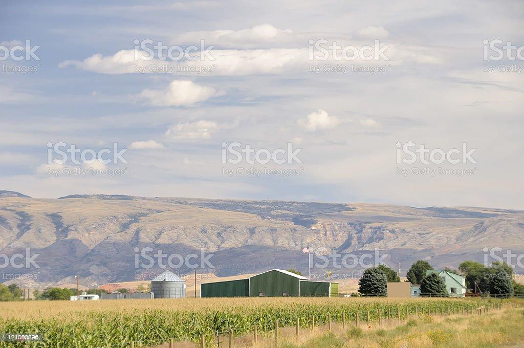 Wyoming Farm stock photo