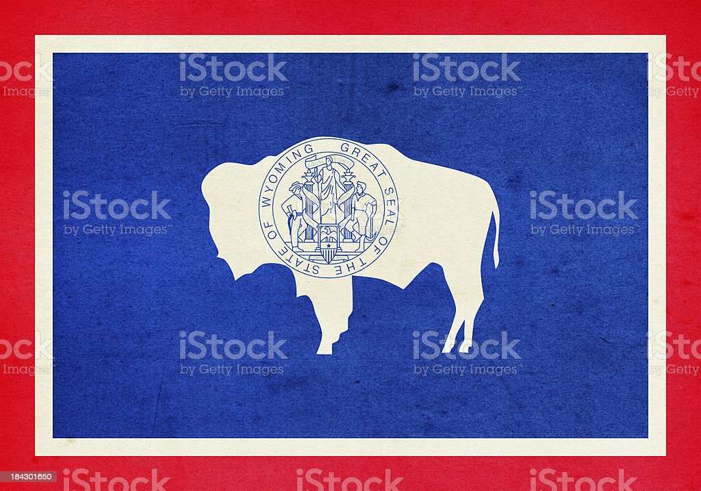 Wyoming Flag Close-Up (High Resolution Image) royalty-free stock photo