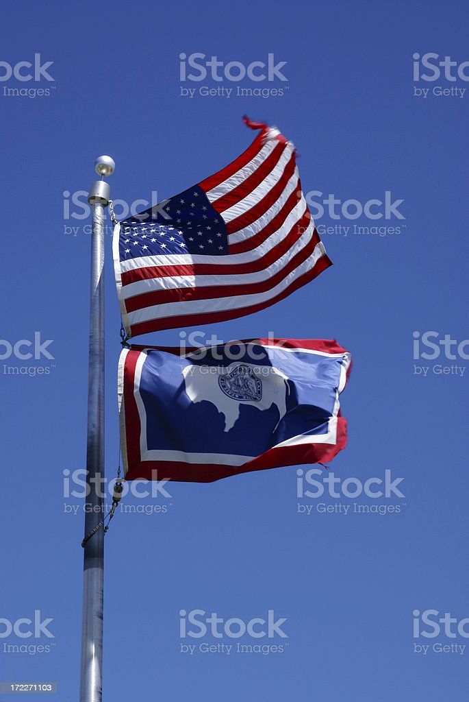 Wyoming Flag royalty-free stock photo