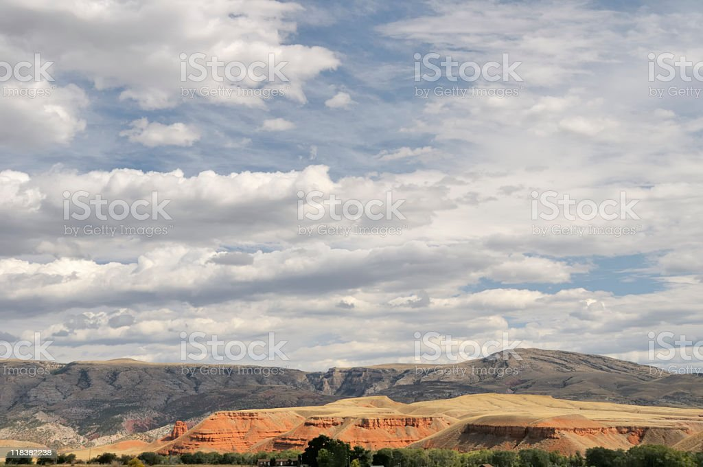 Wyoming Landscape stock photo