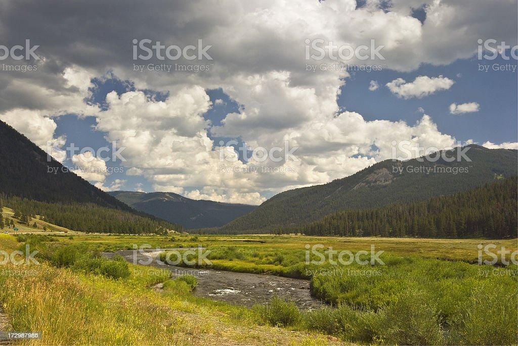 Wyoming landscape royalty-free stock photo