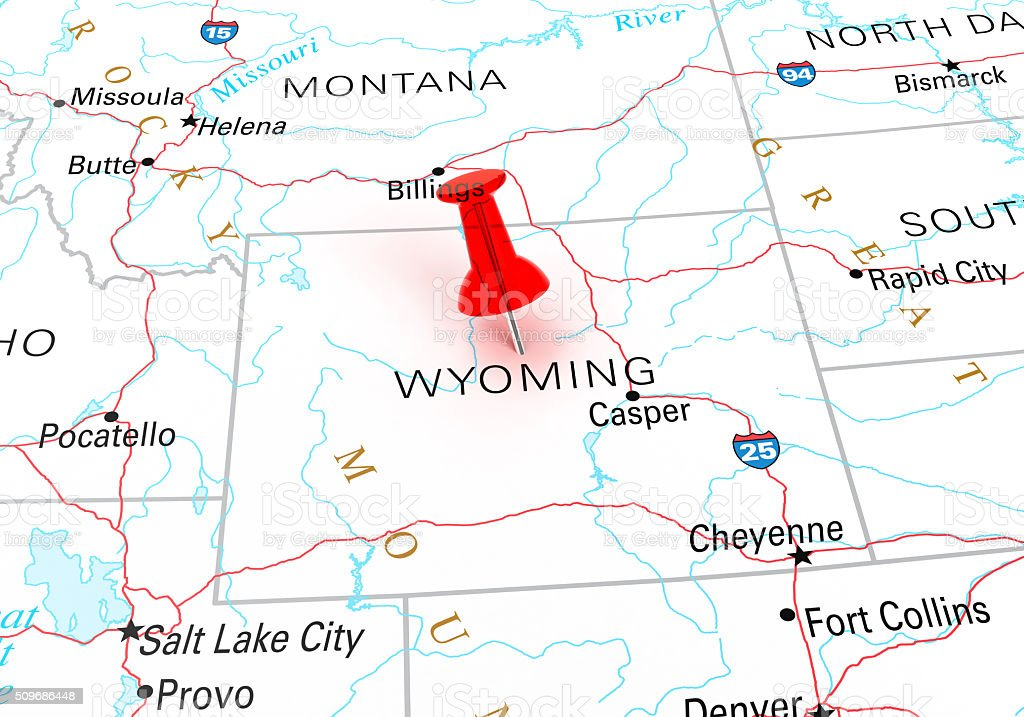 Wyoming Map stock photo