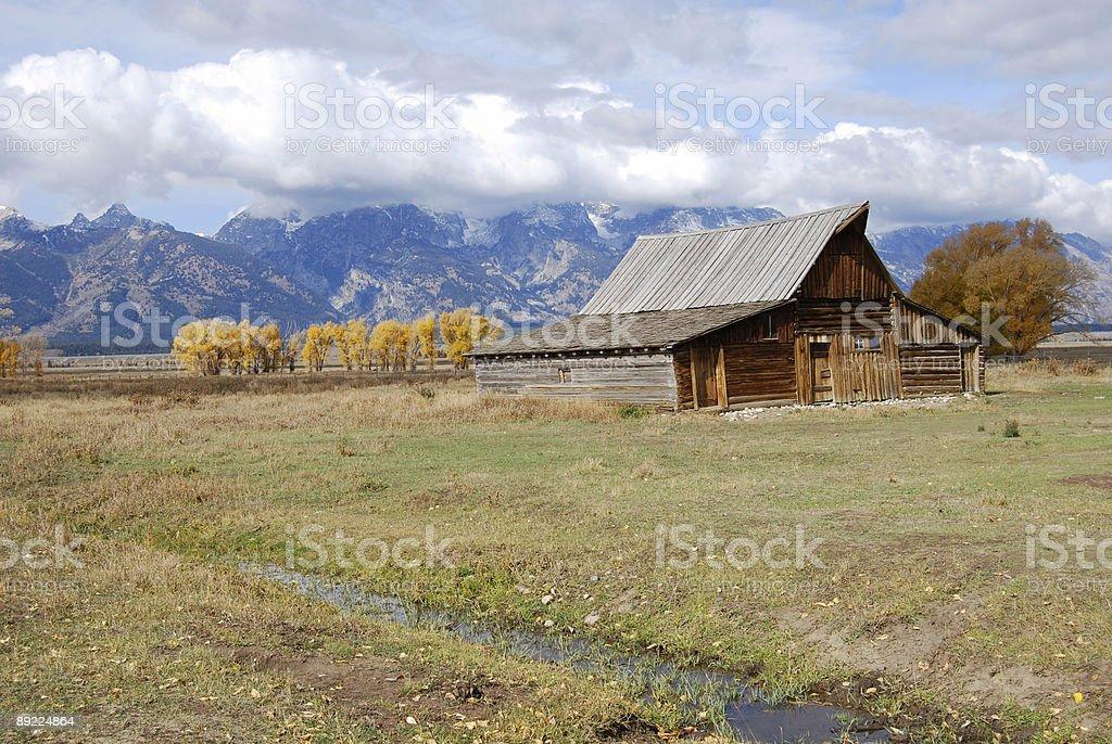 Wyoming - Old Mormon Barn stock photo