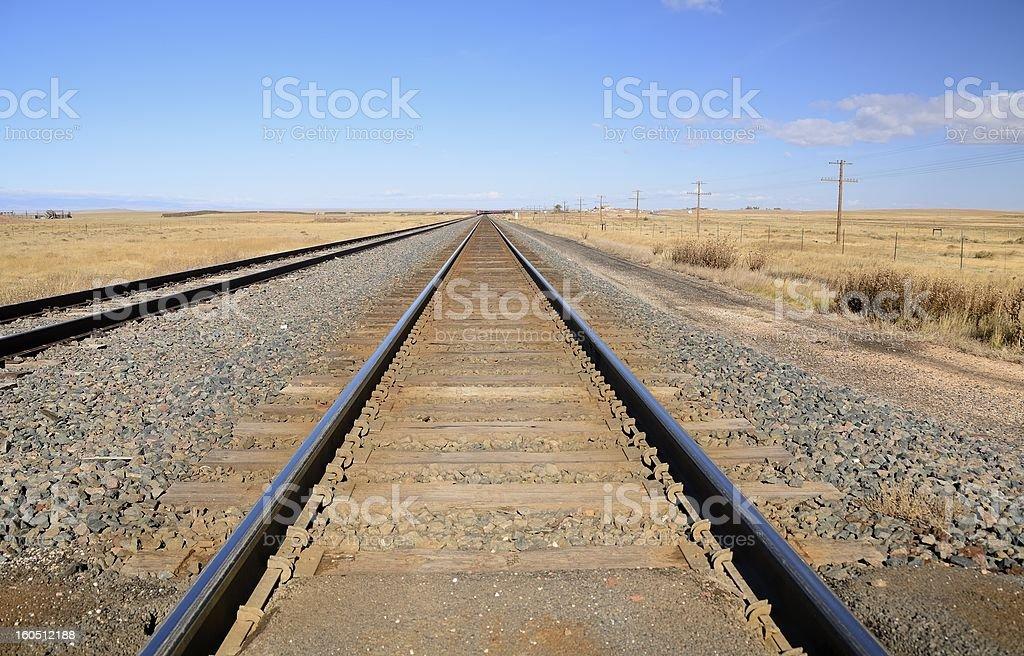 Wyoming Rail Road stock photo