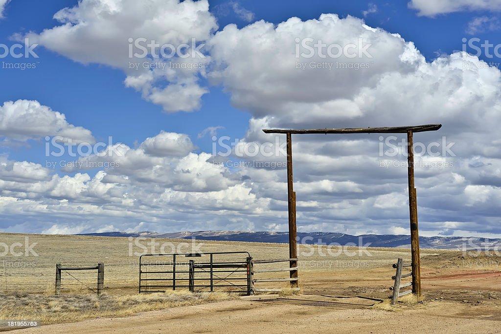 Wyoming Ranch stock photo