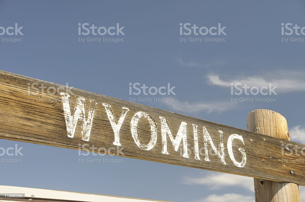 Wyoming Sign royalty-free stock photo