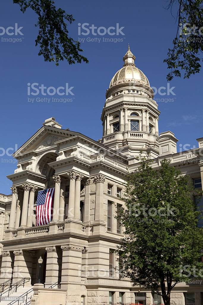 Wyoming State Capitol Building in Cheyenne royalty-free stock photo