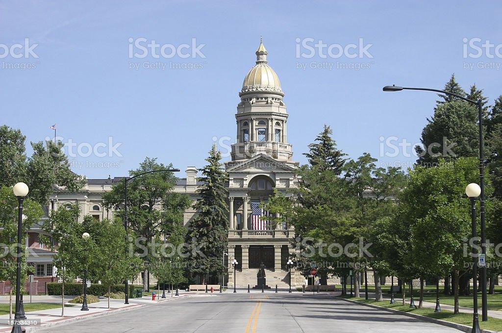 Wyoming State Capitol stock photo