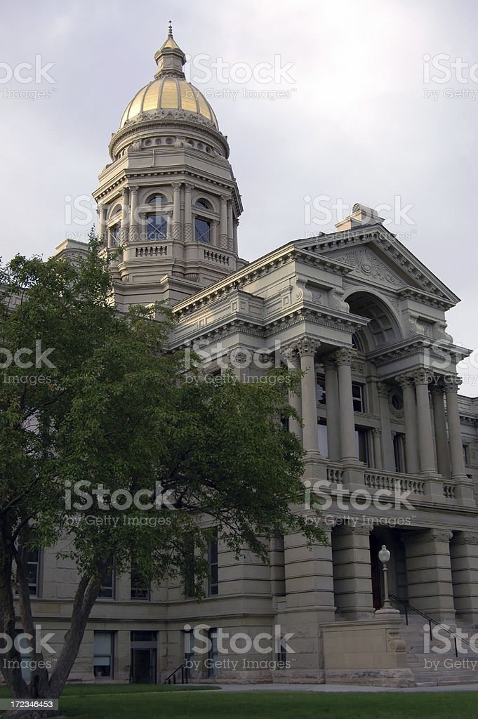 Wyoming State Capitol royalty-free stock photo