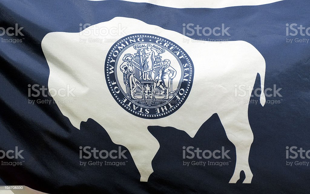 Wyoming State Flag royalty-free stock photo