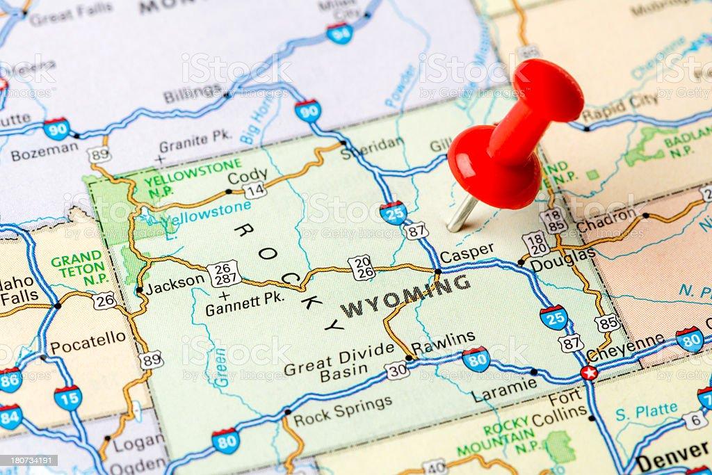 Wyoming state stock photo