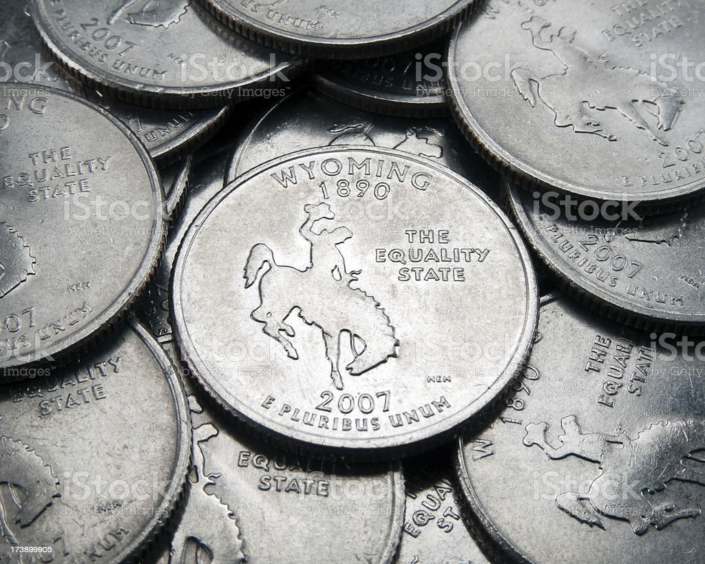 Wyoming State Quarter royalty-free stock photo