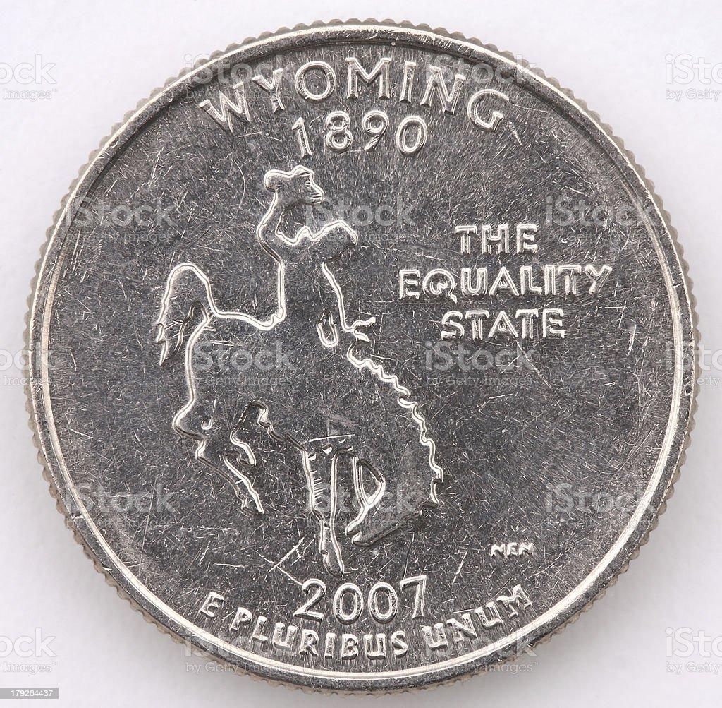 Wyoming State Quarter stock photo