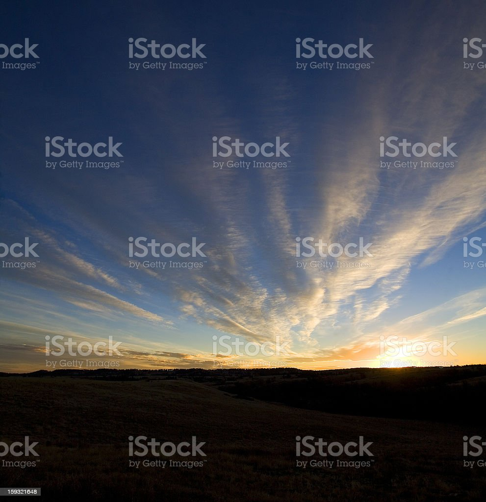 Wyoming sunset royalty-free stock photo