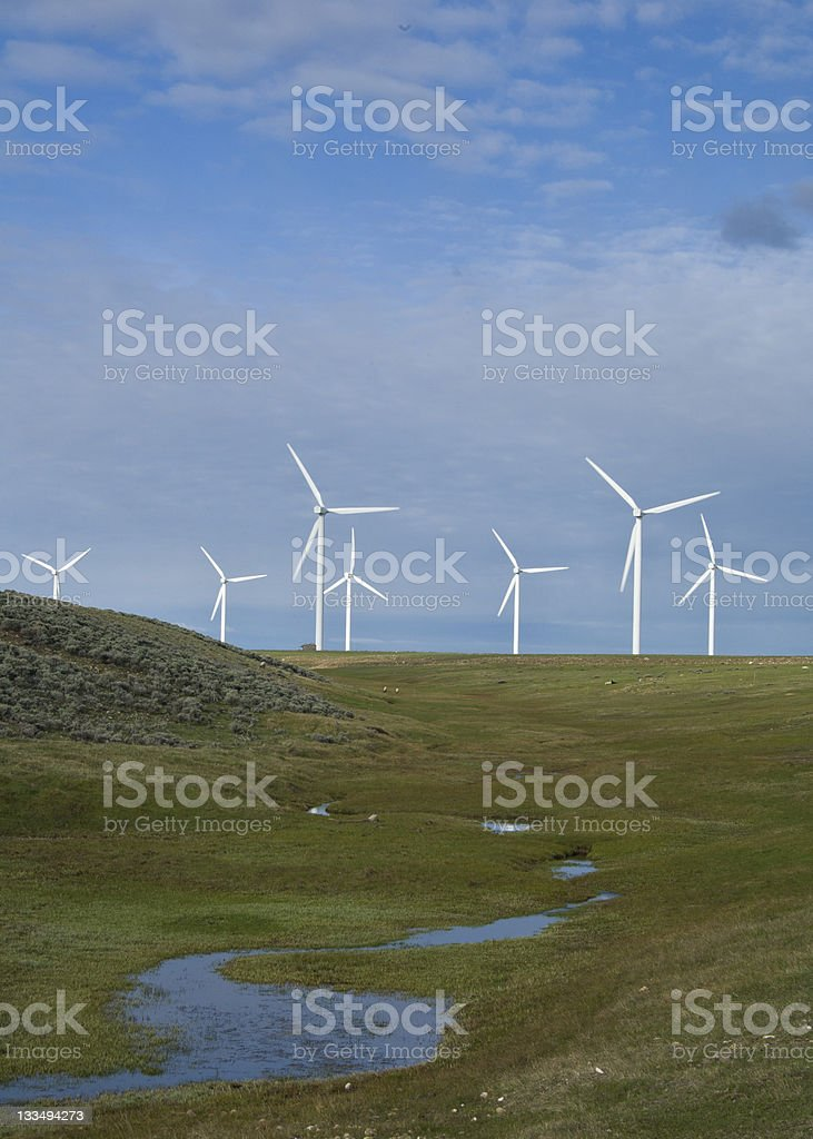 Wyoming turbine eoliche foto stock royalty-free