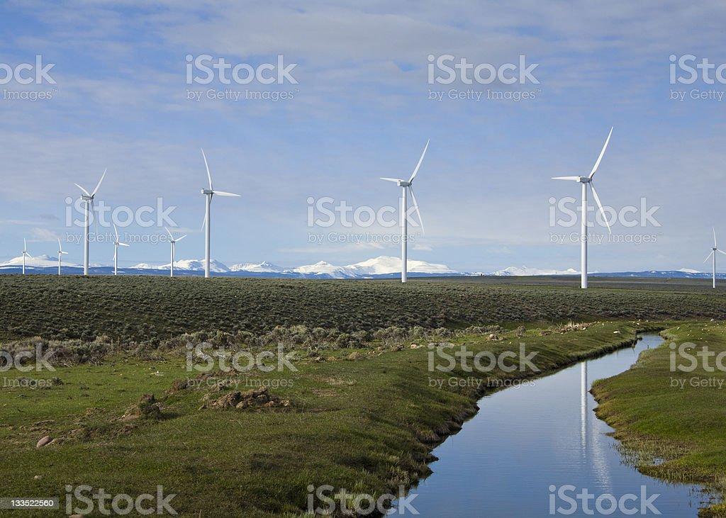 Wyoming turbine eoliche foto stock royalty-free
