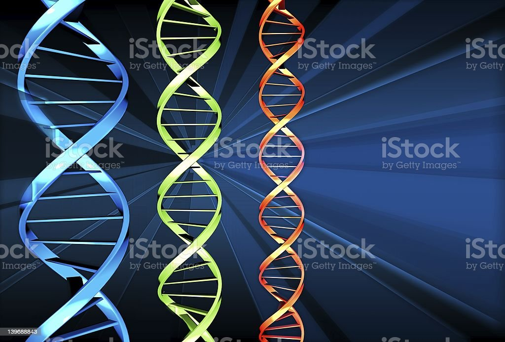 DNA x 3 royalty-free stock photo