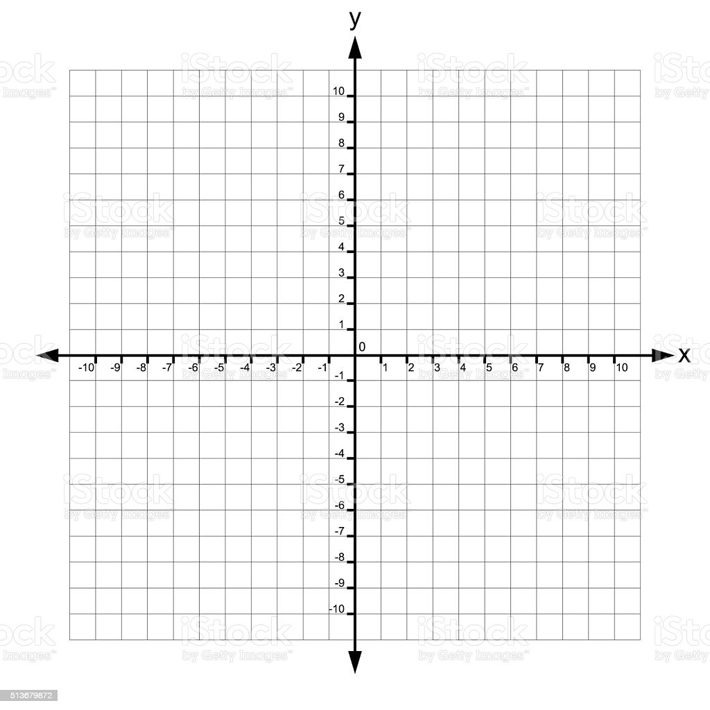 x and y axis with numbers stock photo