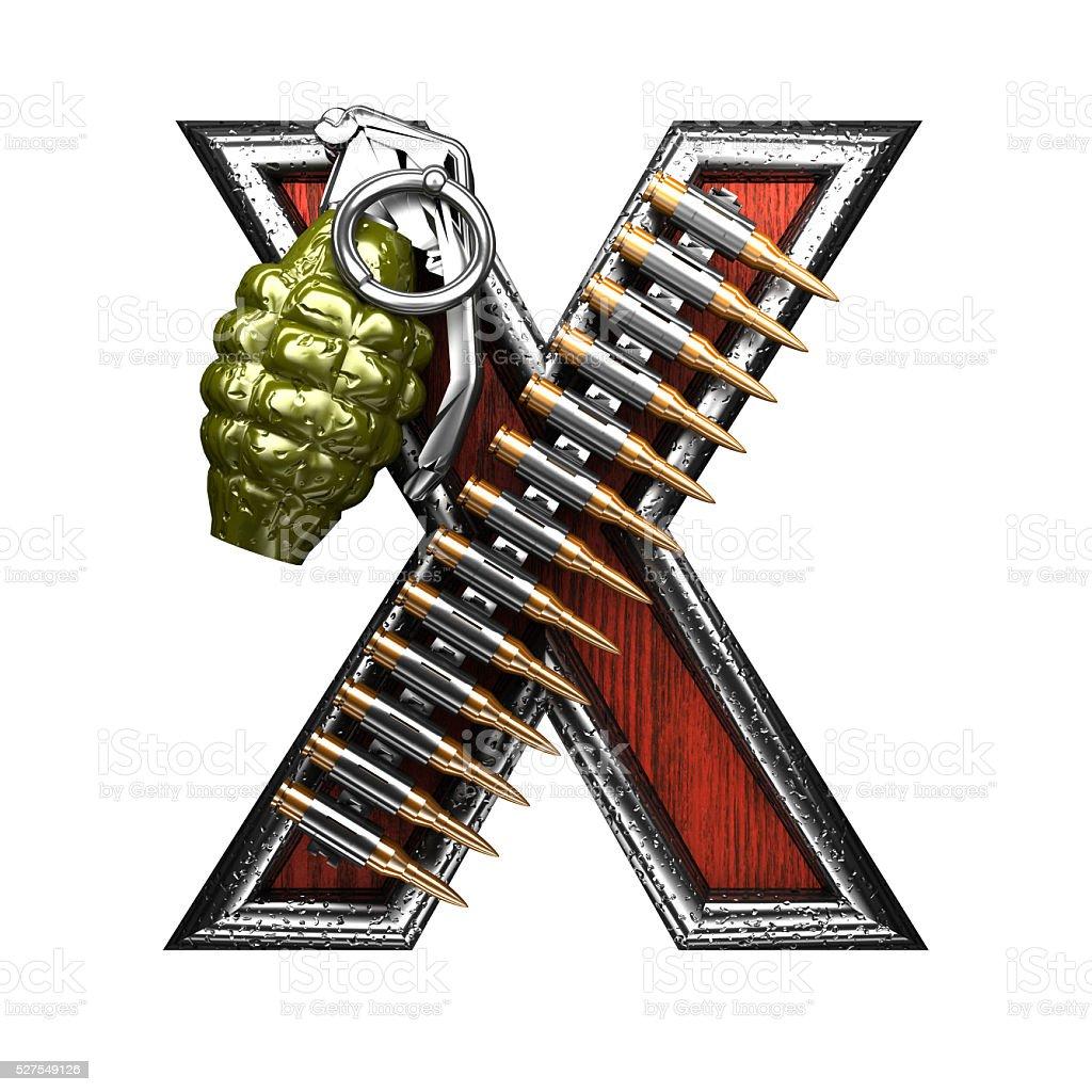 x military letter. 3D illustration stock photo