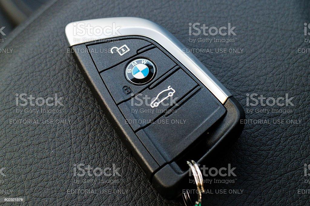 BMW X1d 2016 Key stock photo
