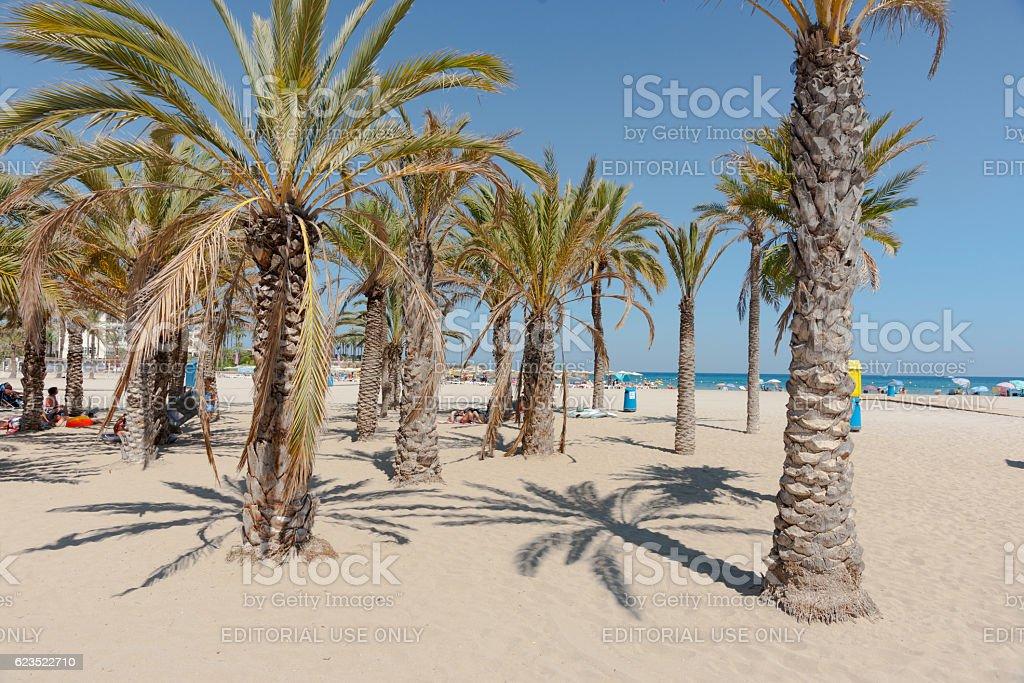 Xabia beach on Mediterranean Costa Blanca Spain stock photo
