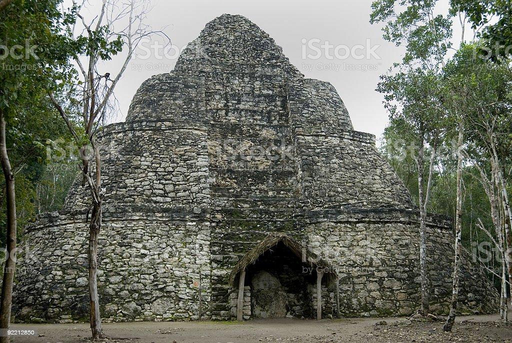 Xaibe Pyramid, Coba, Mexico stock photo