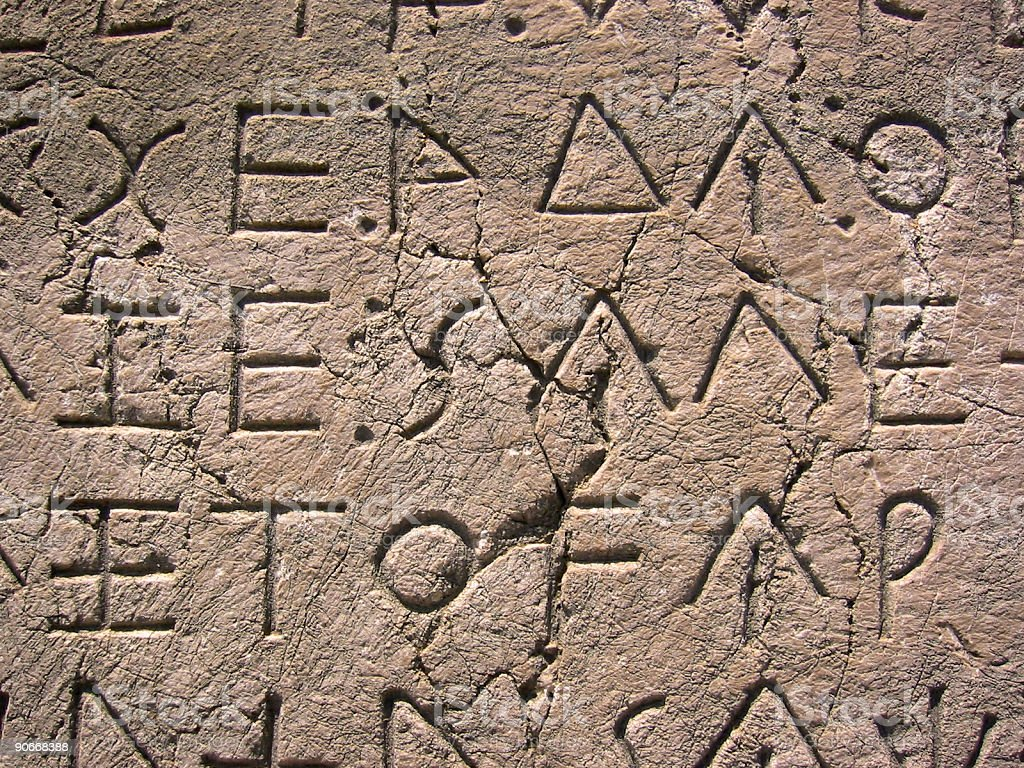 xanthos ancient letters stone tablet background royalty-free stock photo