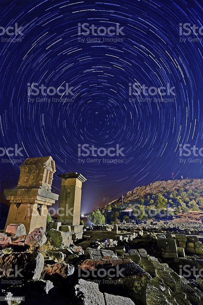 Xanthos-Time lapse stock photo