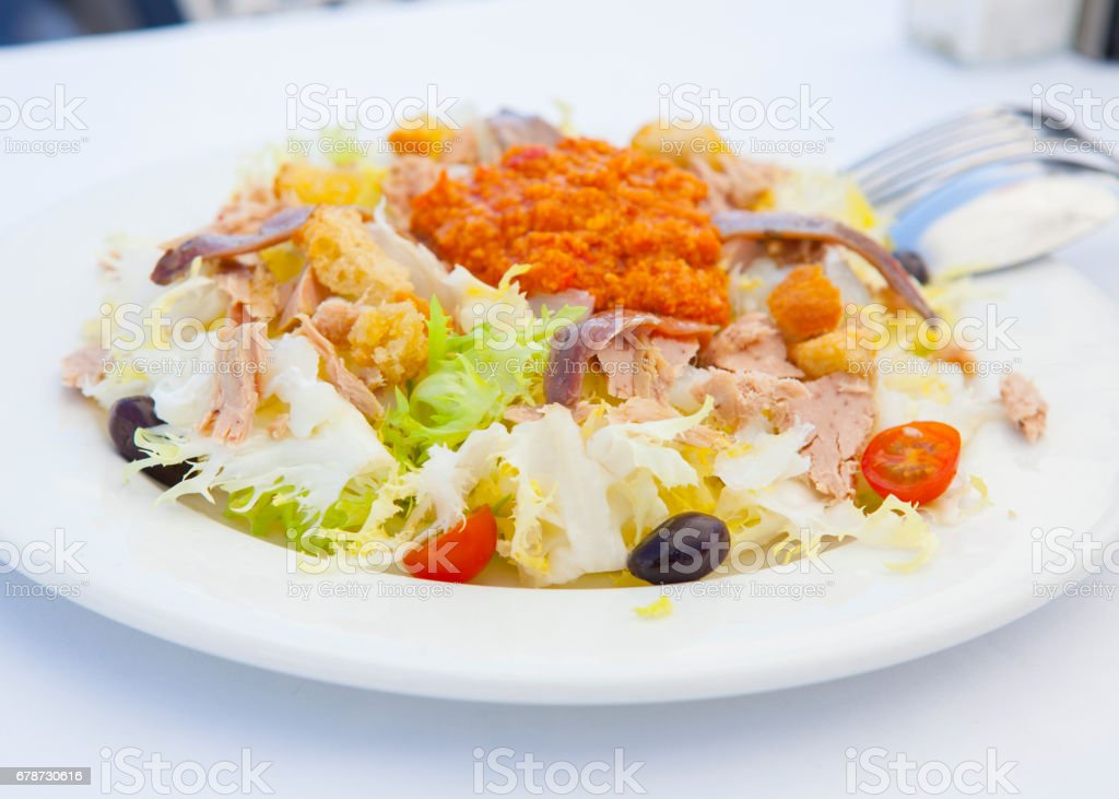 Xato Salad - Sitges style stock photo