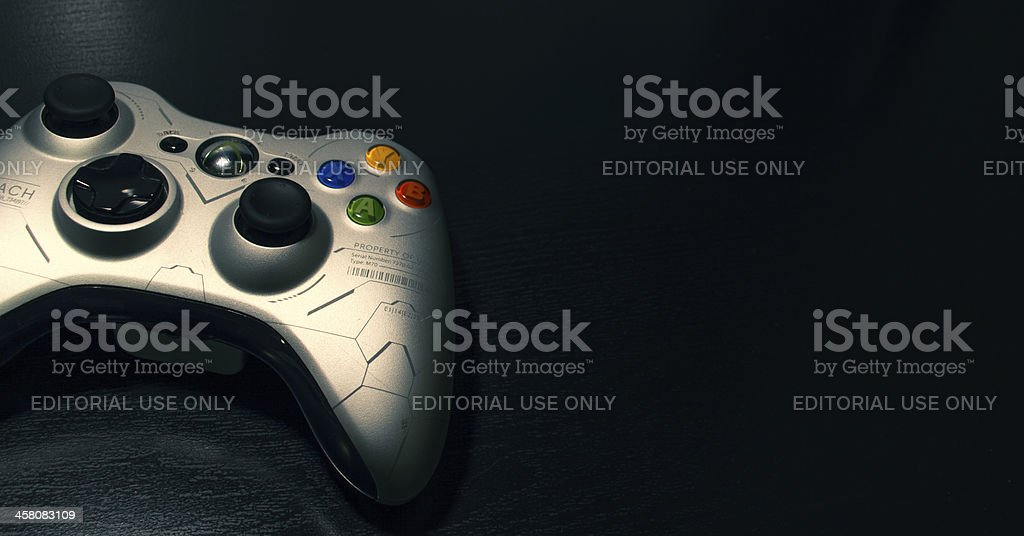 Xbox 360 Controller (Isolated Object) stock photo